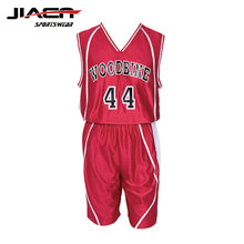 Custom sublimation blank brillante basketball jersey dazzling rot basketball uniform