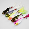 New 5pcs Metal Paillette VIB Fishing Lures Bream Bass Flathead Switchblade Blade Fish Hooks Crank Baits