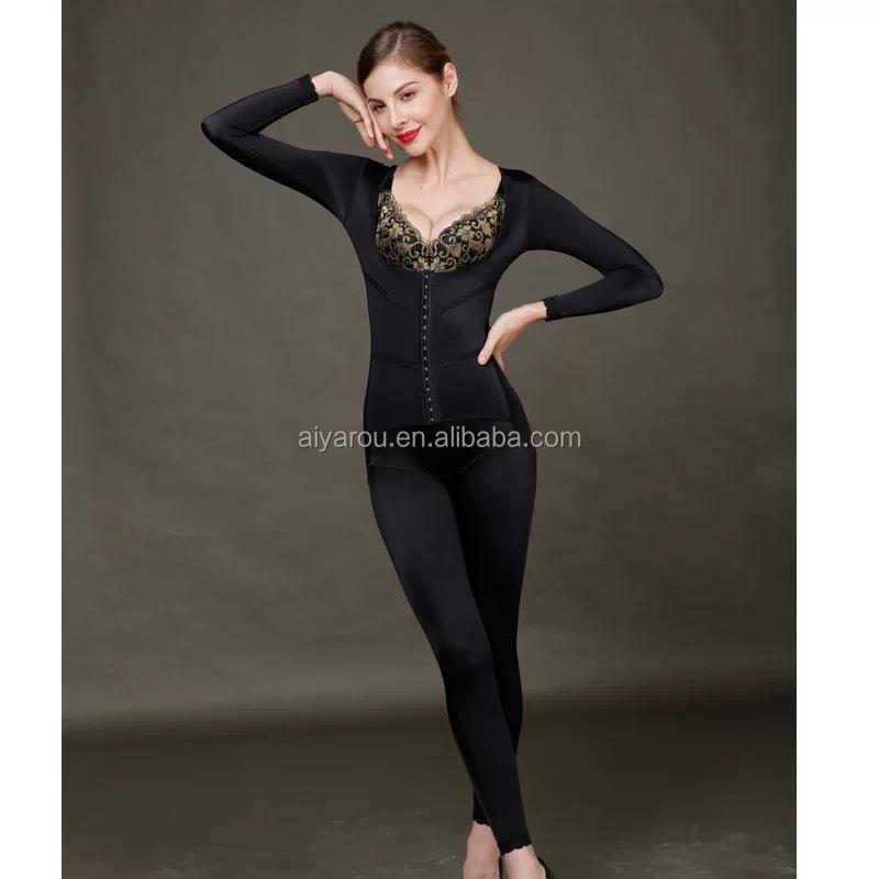 e0ef1561b Magic Open Butt Women Control Waist Full Body Shaper Slimming Abdomen Shapewear  Long Sleeves Thigh Slimming Bodysuits