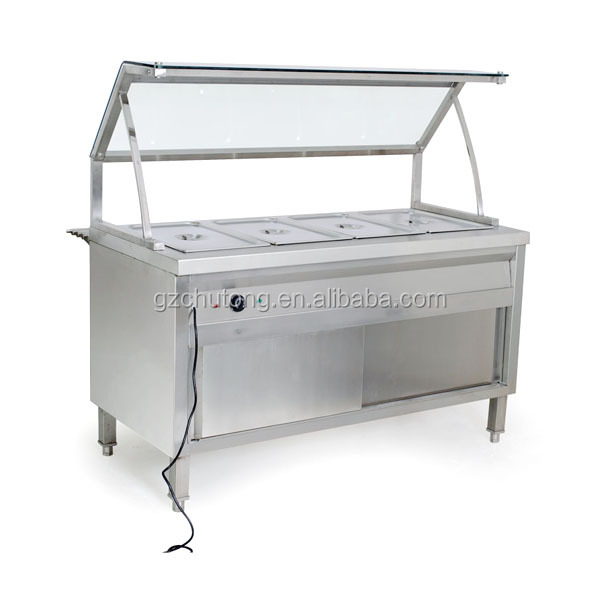 Buffet Table Stainless Steel Counter Top Salad Bar Bain Marie