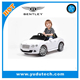 Lisenced Bently Rastar ride on toys with remote control baby electric car,kids battery powered Mp3 ride on car