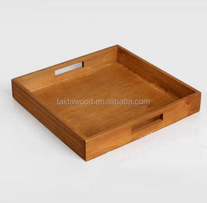 solid customized bamboo wooden serving tray