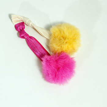 9 Colors Soft Pom Pom Ball Elastic Hair Tie, Winter Mink Fur Hair Band For Thick Long Hair F047