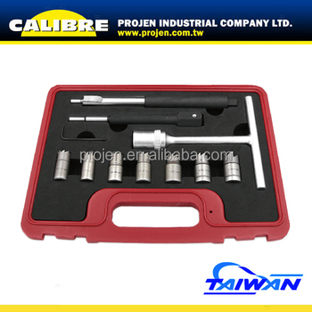 CALIBRE Auto Repair Tools 11pc Diesel Injector Seat Cutter Cleaner Tool Set