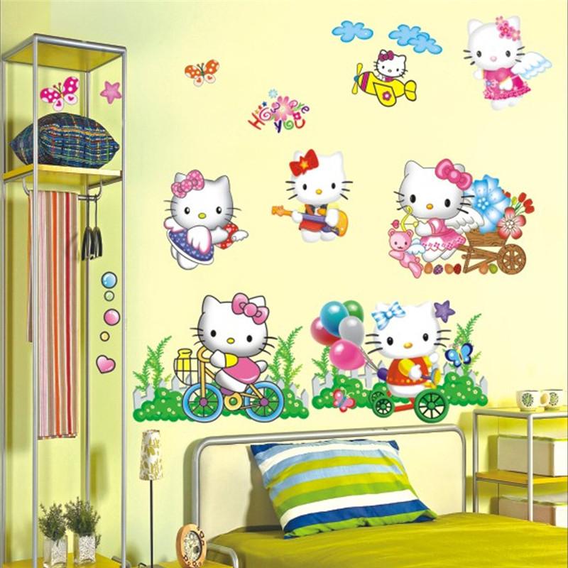 online kaufen gro handel kitty wandtattoo aus china kitty wandtattoo gro h ndler. Black Bedroom Furniture Sets. Home Design Ideas
