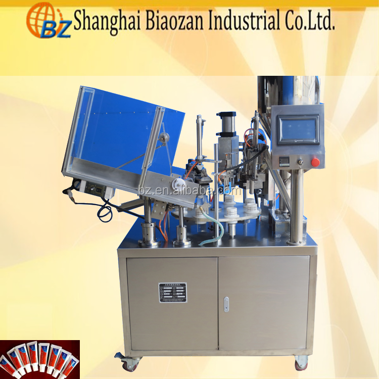 Automatic Fill Seal Equipment Toothpaste Filler And Sealer Plastic Tube Filling Machine