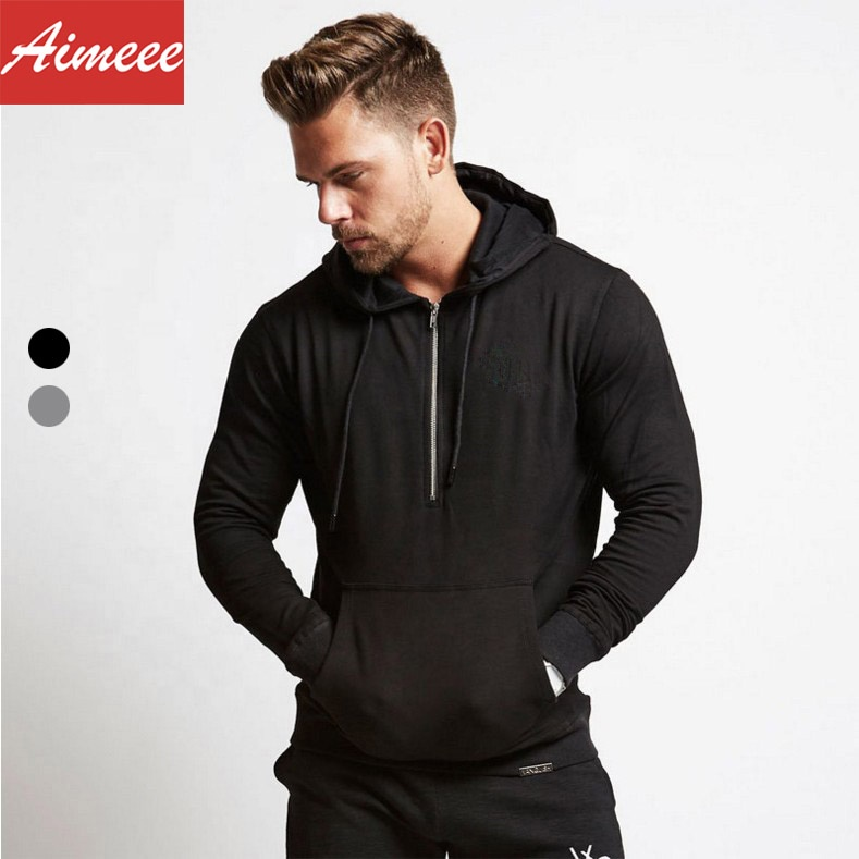 <strong>Mens</strong> Sport Wear Gym Apparel <strong>Men</strong> Zip <strong>Black</strong> <strong>Hoodie</strong>