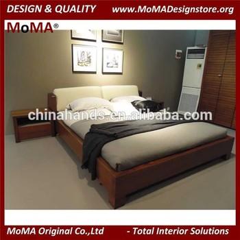 Moma Roble Negro Conjunto De Muebles De Dormitorio,Cuero Blanco ...