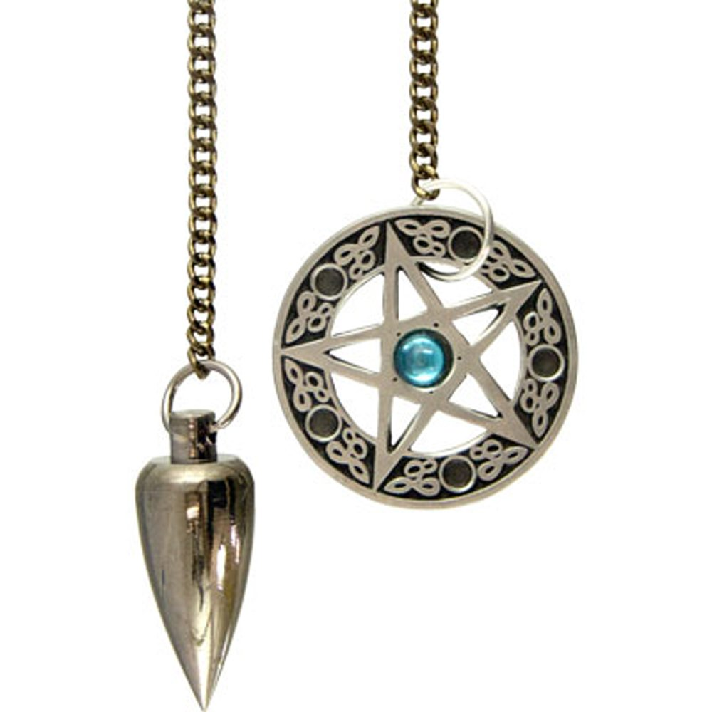 Kheops International - Metal Pendulum with Pentacle Cone Brushed Metal