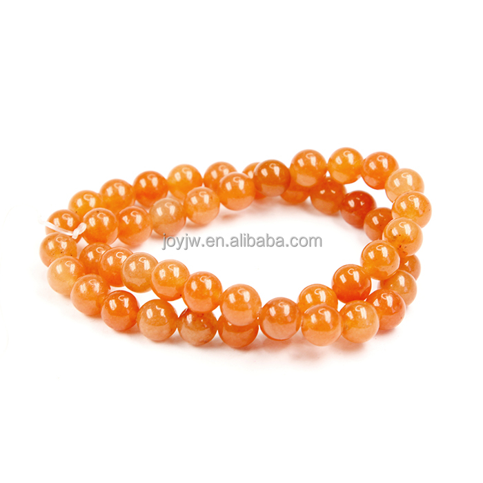 Popular Round Loose Beads Red Aventurine Gemstone Beads For Jewelry Making
