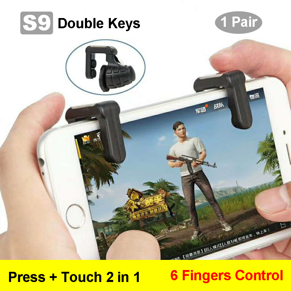 White Mobile Pubg Gaming Shoot And Aim Controller L1r1 Buttons L1 R1 Sharp Shooter Joystick Rule Of Survival Versi 3 For