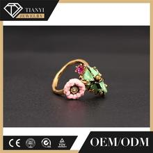 factory direct High quality master masonic championship ring with pink green enamal and gold plating