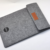 Super Slim Soft Wool Felt Pouch for Mobile Phone and Cards Back with Hand Strap