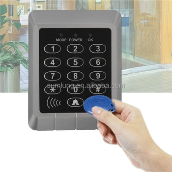 RFID Reader Kit + 10pcs ID Keyfobs EM Security Entry Door Lock With Keypad  Door Bell