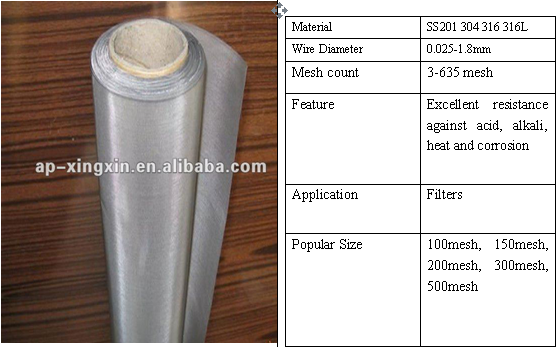 Stainless Steel Wire Mesh 304 316L(id:10709131). Buy China wire mesh ...