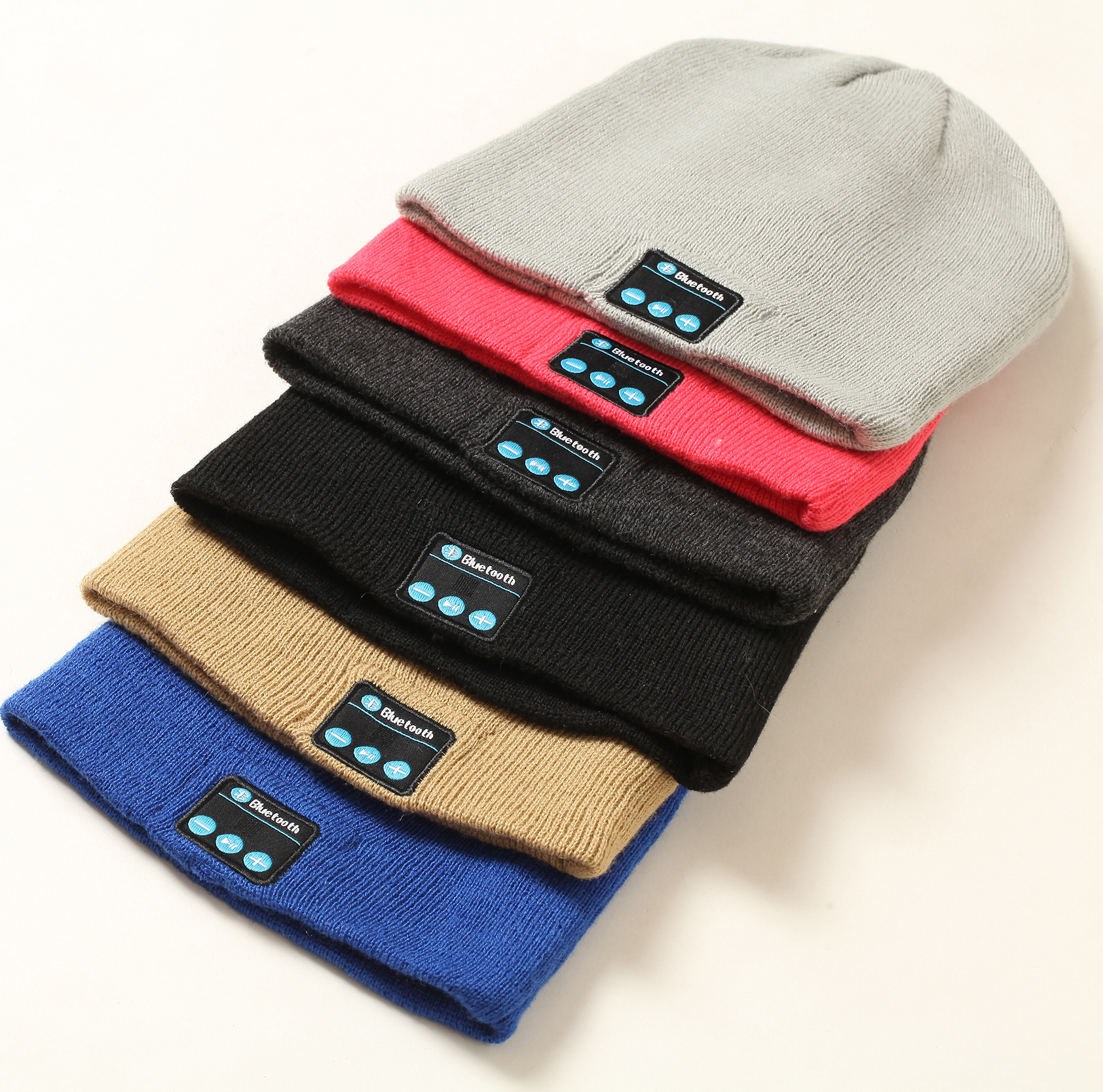 Alibaba best selling knitted bluetooth beanies winter beanies