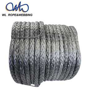 (WL Rope) 12 Strand Uhmwpe Synthetic Rope, Heavy Duty Electric Hoist Pulling Lifting Rope