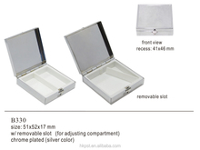 Advertising metal square shaped blank pill case