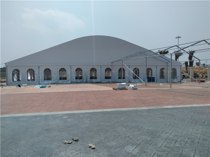 Guangzhou high quality 100x200ft large arch marquee tent for out door wedding party events