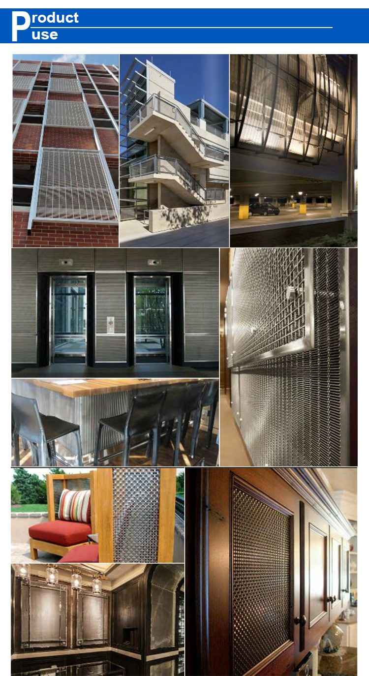 Metal Woven Wire Mesh For Laminated Glass