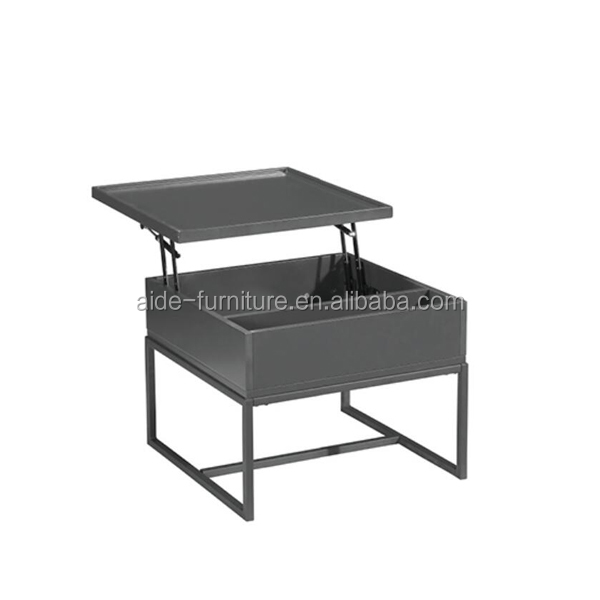 Modern Folding Table Furniture cheap height adjust lift up top wood Two Layers Coffee Table