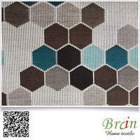 High Quality Honeycomb Design Polyester Wool Fabric For Sofa Home Textile