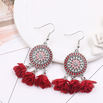 Ywmt 2018 Whole New Design European Flowers Creative Tel Earrings For Women