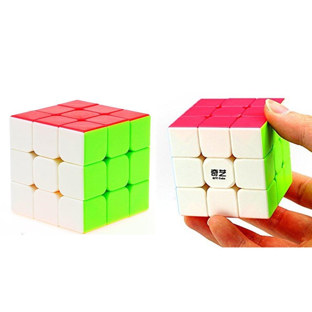 CuberSpeed Speedcubing Bundle QiYi Warrior W 3x3 Stickerless with Moyu MoFang JiaoShi MF3S Stickerless Bright