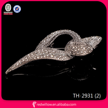 New style silver Clear Crystal rhinestone elegant brooch for bridal lady