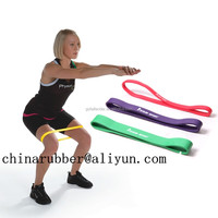 3mm fitness exercise rubber band