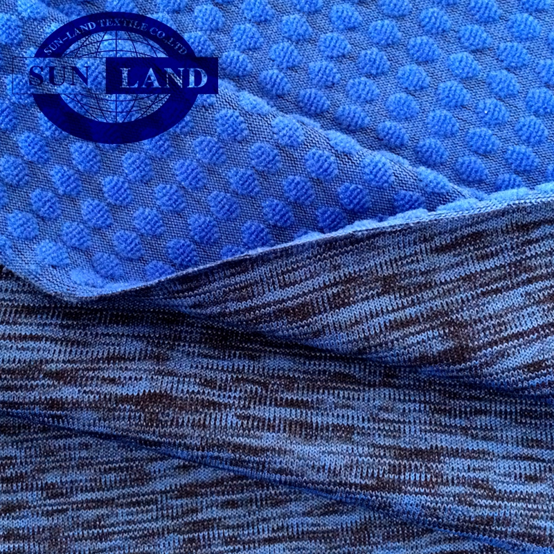casual sports garment clothing embossed 100 polyester jersey fabric