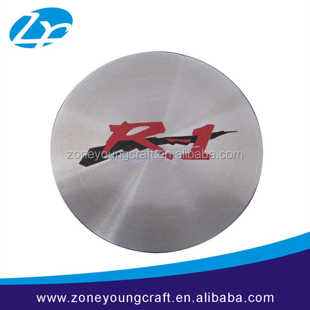 Highlight aluminum round printed company nameplate