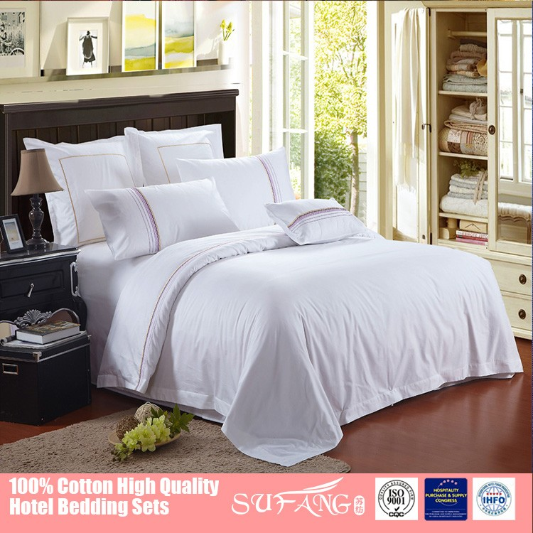 Gold Sufang Specialized Making Hotel Hospital Bed Sheet Bedding Set