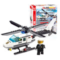 Free Shipping 102pcs Small Particles Fire Police Station Building Truck Blocks Bricks Helicopter Model Kits Christmas