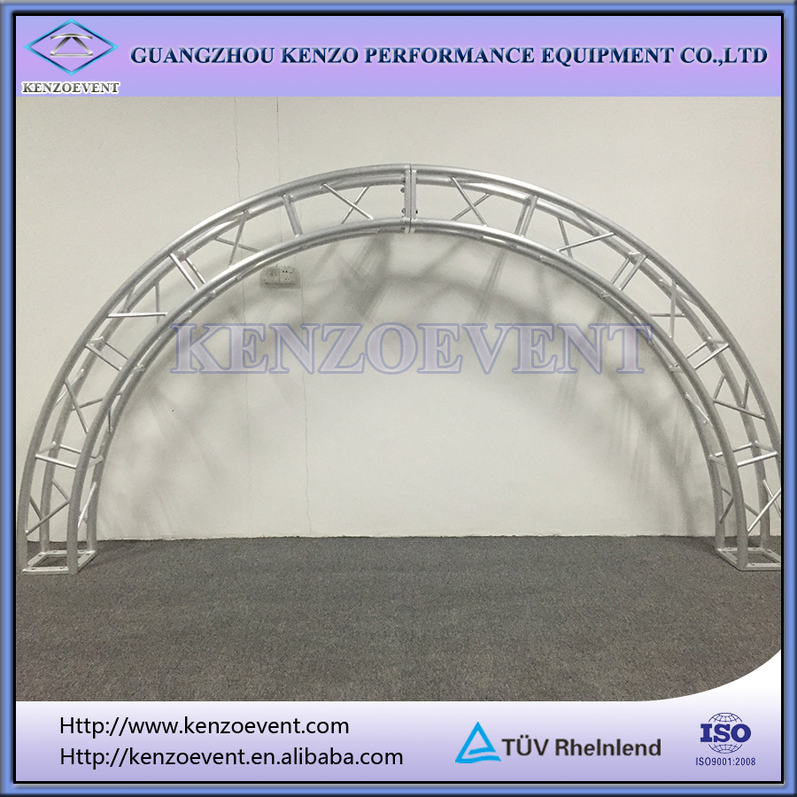 aluminum curved roof truss for events