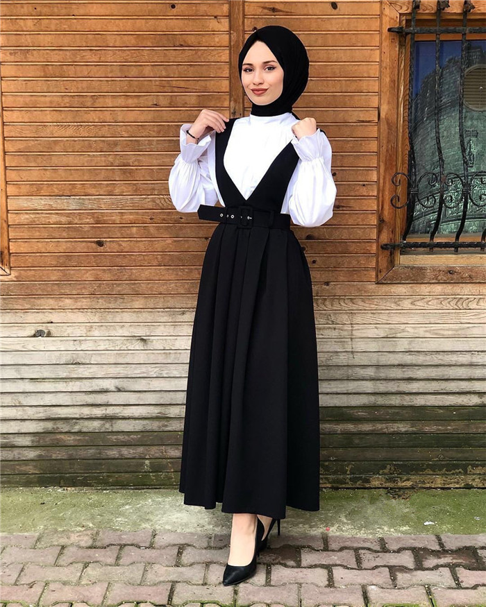 New fashion design muslim women soft material braces  style suspender skirts