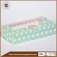 China food grade paper cheap clear bakery box with customized logo