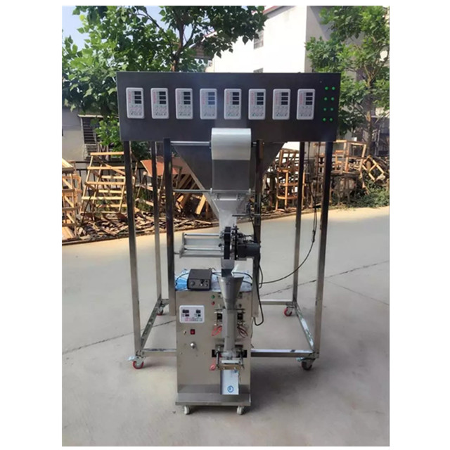 Customized 3 side seal 2 heads SMFZ-70 packing machine with date coder for seeds, tea