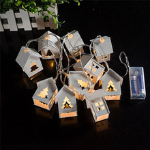 Battery Operated Led String 10pcs House Shaped Fairy Light for Christmas Decoration