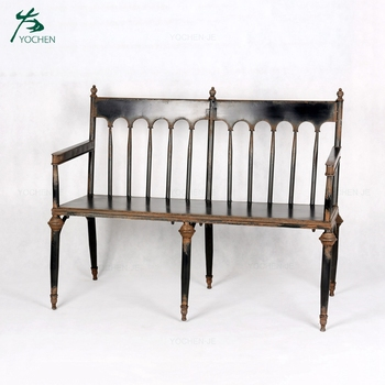 Superb Outdoor Furniture Antique Wrought Iron Garden Bench Seat View Garden Bench Yochen Product Details From Fuzhou Yochen Import And Export Trade Co Ibusinesslaw Wood Chair Design Ideas Ibusinesslaworg