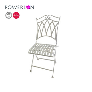Peachy Best Selling Vintage Antique White Classic Gothic Style Folding Iron Garden Chair Ncnpc Chair Design For Home Ncnpcorg