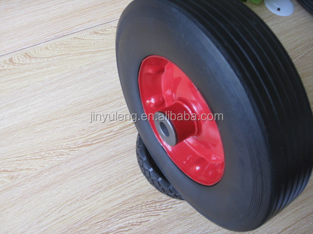 10,13,14,16inch solid rubber wheels for heavy duty wheelbarrow construction made in china