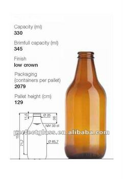 330ml Amber Stubby Beer Bottle Buy Beer Bottle Amber