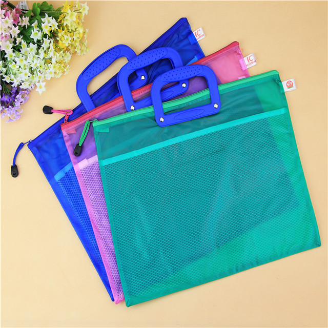paticular customized plastic file folder with zipper for office and school supplier