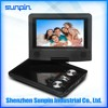 Wholesale newest Xmas gifts 7 inch portable DVD player with TFT LCD monitor for classroom/office/car