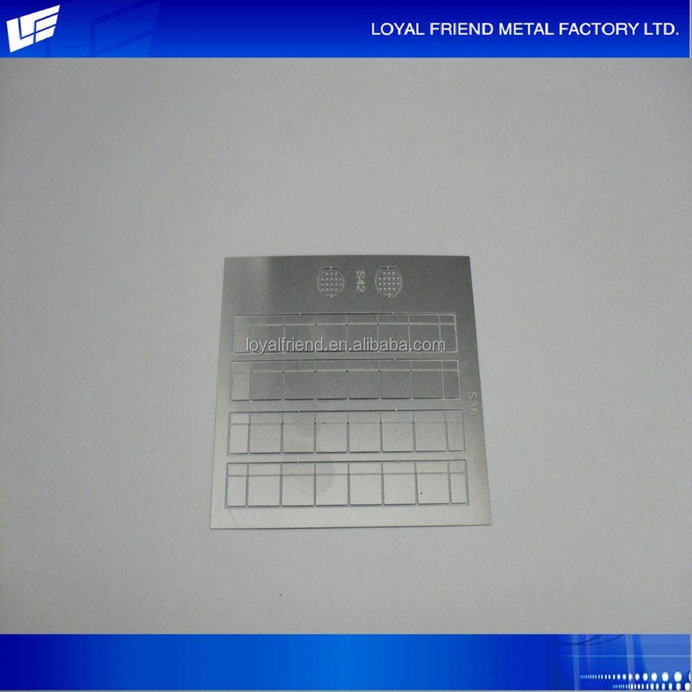 Hot Selling Exclusive Metal Photo Etching Model Parts