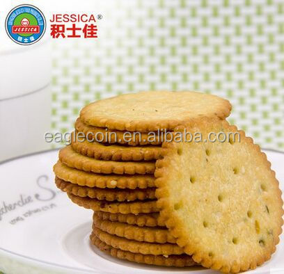 Round shape onion cracker biscuits Thin biscuits Crisp sweet