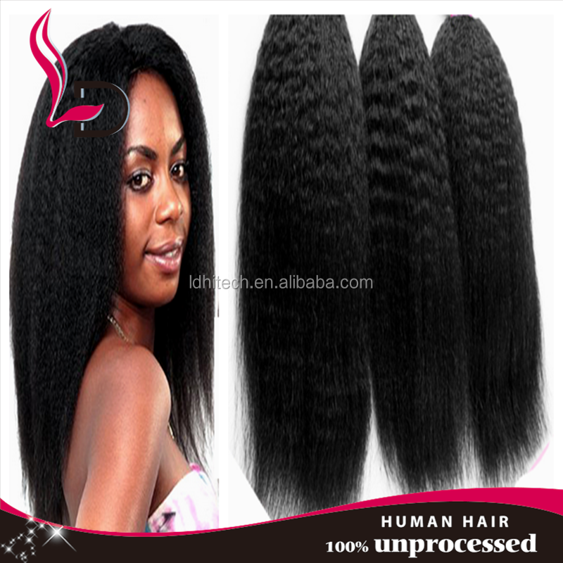 7A virgin brazilian hair corse yaki weave wholesale yaki perm human hair cheap weaves