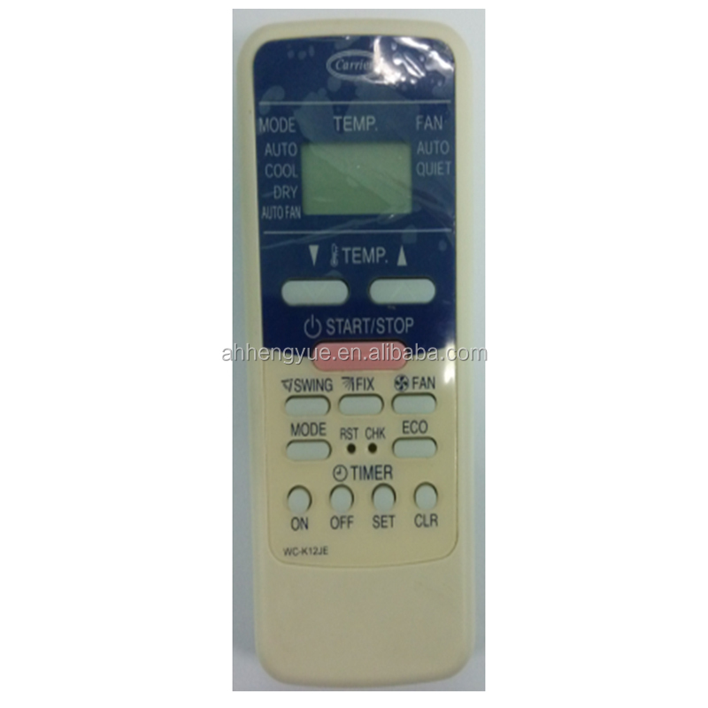 electronic manufacturing for carrier air conditioner remote control for carrier WC-K12JE