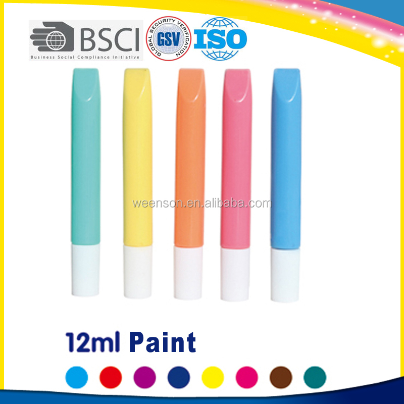 Cheap and high quality safe 12ml poster color paint